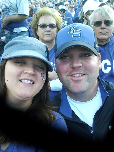 Chris and DeAnna at game